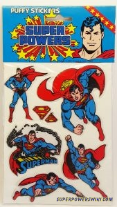 supermanpuffystickerblue