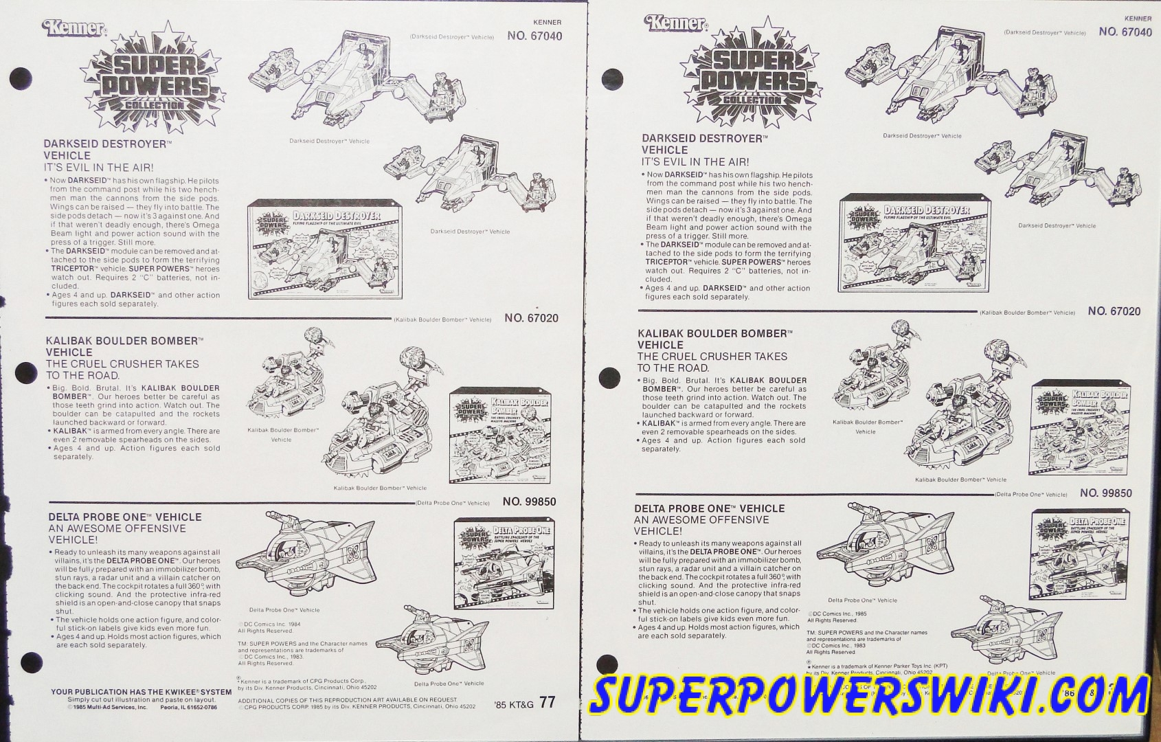 Catalog Pages – Super Powers Wiki