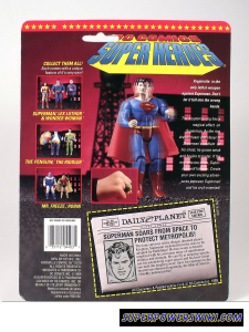 Cardback for Toy Biz Superman