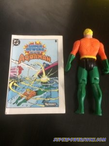 Backside of Super Powers Aquaman